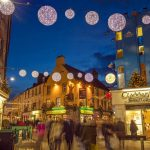 Christmas Market and Lights, Eyre Square, Galway, City, County Galway, Ireland.