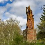 The William Wallace Statue in the grounds of the Bemersyde estate, near Melrose in the Scottish Borders is a statue commemorating William Wallace. It was commissioned by David Steuart Erskine, 11th Earl of Buchan.