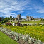 Drummond Gardens and Castle. The castle dates from the 15th Century and sits in the largest formal garden in Scotland.
