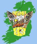 USMA83 IRELAND MAP ON BLUE